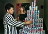 Brazilian neo-pop artist painter Romero Britto presents designs over cansvases for a collection of Pepsi corporation, Rio de Janeiro, Brazil, 1995. (Austral Foto/Renzo Gostoli)