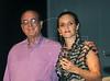"""PREMIO DE CINEMA ACIE 2012 - Ganhadora do premio """"Melhor trilha sonora"""", dir,  com o jornalista Harold Emmert, esq, Rio de Janeiro, Brasil, Maio 7, 2012. (Austral Foto/Renzo Gostoli)"""