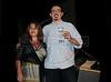 """PREMIO DE CINEMA ACIE 2012 - Ganhador do premio """"Rio Filme 20 anos"""", dir, com a jornalista Fabiana Frayssinet, izq, Rio de Janeiro, Brasil, Maio 7, 2012. (Austral Foto/Renzo Gostoli)"""