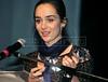 """PREMIO DE CINEMA ACIE 2012 - Simone Spoladore, ganhadora do premio """"Melhor atriz"""" , Rio de Janeiro, Brasil, Maio 7, 2012. (Austral Foto/Renzo Gostoli)"""
