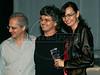 """PREMIO DE CINEMA ACIE 2012 - Ganhadores do premio """"Melhor documentario"""" com lixo extraordinario' e o jornalista Mac Margolis, Rio de Janeiro, Brasil, Maio 7, 2012. (Austral Foto/Renzo Gostoli)"""