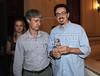 """PREMIO DE CINEMA ACIE 2012 -  Ganhador do premio """"Rio Filme 20 anos"""", dir, com o jornalista Marcelo Cajueiro, Rio de Janeiro, Brasil, Maio 7, 2012. (Austral Foto/Renzo Gostoli)"""