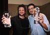 """PREMIO DE CINEMA ACIE 2012 - Ganhadores do premio """"Melhor filme"""", Selton Mello, esq, e do  """"Rio Filme 20 anos"""", Rio de Janeiro, Brasil, Maio 7, 2012. (Austral Foto/Renzo Gostoli)"""