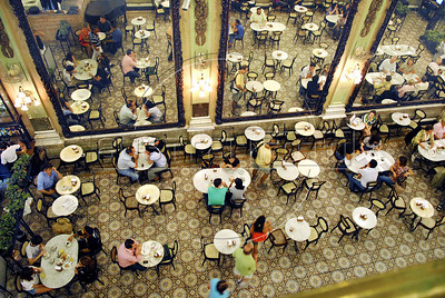 The historic Colombo restaurant, pastry and tea house in downtown Rio de Janeiro, Brazil, November 12, 2009. (AustralFoto/Renzo Gostoli)