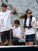 Swedish Crown Princess Victoria, right, rides in the Ericsson Racing team boat during an in-port race in Rio de Janeiro, March 25, 2006. The race is part of the Rio stopover of the round-the-world Volvo Ocean Race. The race departs for Baltimore on April 2.(AustralFoto/Douglas Engle)