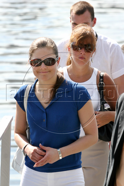 Swedish Crown Princess Victoria, visits the Ericsson Racing team in Rio de Janeiro, March 24, 2006. Ericsson has a boat in the round-the-world Volvo Ocean Race and is in Rio during a stopover. The race departs for Baltimore on April 2.(AustralFoto/Douglas Engle)