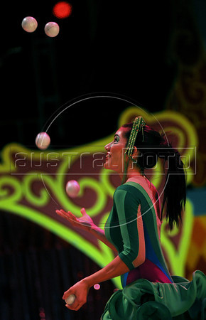 Unicirco, show, malabarista, Rio de Janeiro, Brazil, Abril 14, 2012. (Austral Foto/Renzo Gostoli)