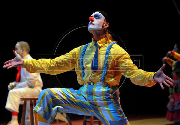 Unicirco, show, palhaco Farelo, Rio de Janeiro, Brazil, Abril 23, 2012. (Austral Foto/Renzo Gostoli)