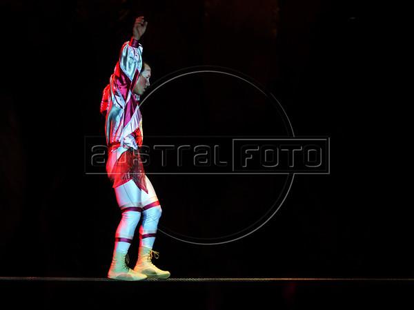 Unicirco, show, equilibrista, Rio de Janeiro, Brazil, Abril 14, 2012. (Austral Foto/Renzo Gostoli)