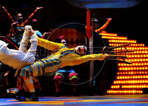 Unicirco, show, palhacos Muzzarela e Farelo, Rio de Janeiro, Brazil, Abril 14, 2012. (Austral Foto/Renzo Gostoli)
