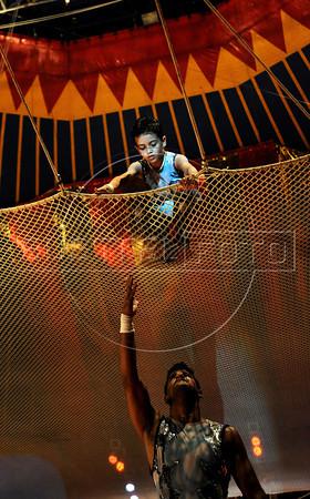Unicirco, show, trapezistas, Gustavinho, 6, Rio de Janeiro, Brazil, Abril 7, 2012. (Austral Foto/Renzo Gostoli)