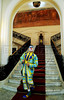 O ator Marcos Frota recebeu, na quarta-feira, a Medalha Pedro Ernesto da Câmara Municipal. A honraria é pelo trabalho do Unicirco, fundado por ele, por sua atividade artistico-educativa junto a jovens cariocas, Rio de Janeiro, Brasil, abril 25, 2012. O palhaco Farelo nas escadarias do palacio. (Austral Foto/Renzo Gostoli)