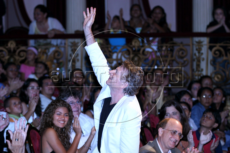 French director Roman Polanski appears before a film in the Opera House in Manaus, Capital of the Brazilian state of Amazonas, Nov. 6, 2005. Polanski is a special guest of The World Adventure Film Festival, billed as dedicated to the human spirit of adventure, from Nov. 4 through 10, 2005. The festival was launched last year by the government of the State of Amazon to highlight its role of preserving natural heritage. (AustralFoto/Douglas Engle)