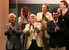 Canadian director Norman Jewison, front center, applauds at the at the inauguration of The World Adventure Film Festival, in Manaus, Capital of the Brazilian state of Amazonas, Nov. 4, 2005. The festival, billed as dedicated to the human spirit of adventure, was launched last year by the government of the State of Amazon to highlight its role of preserving natural heritage. (AustralFoto/Douglas Engle)