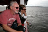 Canadian Director Norman Jewison, left, and wife Lynne St. David look at the Amazon River during a tour in Manaus, Capital of the Brazilian state of Amazonas, Nov. 6, 2005. Jewison is part of the jury of The World Adventure Film Festival, billed as dedicated to the human spirit of adventure, from Nov. 4 through 10, 2005. The festival was launched last year by the government of the State of Amazon to highlight its role of preserving natural heritage. (AustralFoto/Douglas Engle)