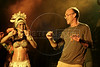 American director Chuck Russel, right, dances with a folklore show during The World Adventure Film Festival, in Manaus, Capital of the Brazilian state of Amazonas, Nov. 7, 2005. The festival, billed as dedicated to the human spirit of adventure, was launched last year by the government of the State of Amazon to highlight its role of preserving natural heritage. (AustralFoto/Douglas Engle)