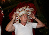 French director Roman Polanski trys on a headdress watches a regional folklore show during The World Adventure Film Festival, in Manaus, Capital of the Brazilian state of Amazonas, Nov. 7, 2005. The festival, billed as dedicated to the human spirit of adventure, was launched last year by the government of the State of Amazon to highlight its role of preserving natural heritage. (AustralFoto/Douglas Engle)