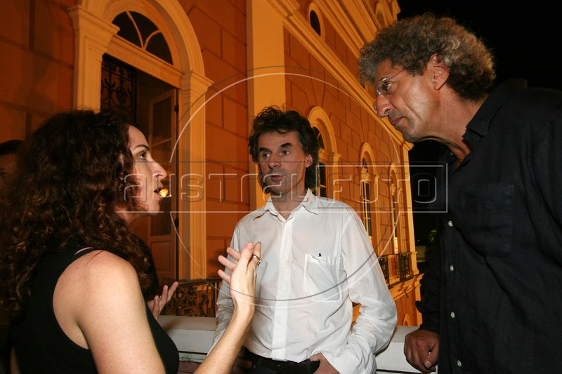 Jury Members Rosane Svartman of Brazil, left, talks with Jean-Christophe Grange, center, and Elie Chouraqui, both of France, before a film presentation at the inauguration of The World Adventure Film Festival, in Manaus, Capital of the Brazilian state of Amazonas, Nov. 5, 2005. The festival, billed as dedicated to the human spirit of adventure, was launched last year by the government of the State of Amazon to highlight its role of preserving natural heritage.(AustralFoto/Douglas Engle)