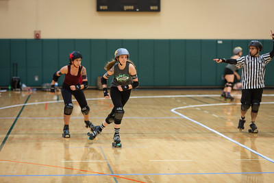 Orlando Roller Derby: Heat Wave Hellcats vs Manatee Mayhem, April 2019.