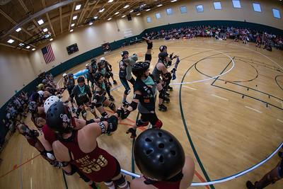 2018 Orlando Roller Derby home team bout, Manatee Mayhem vs Heatwave Hellcats - kabelphoto.com