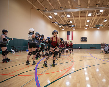Orlando Roller Derby August 2019, Manatee Mayhem vs. Heat Wave Hellcats.
