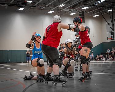 Orlando Roller Derby, Snowbird Bombers vs. Heat Wave Hellcats.