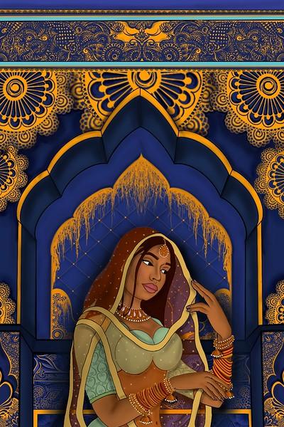 Brown-skinned Mughal Woman