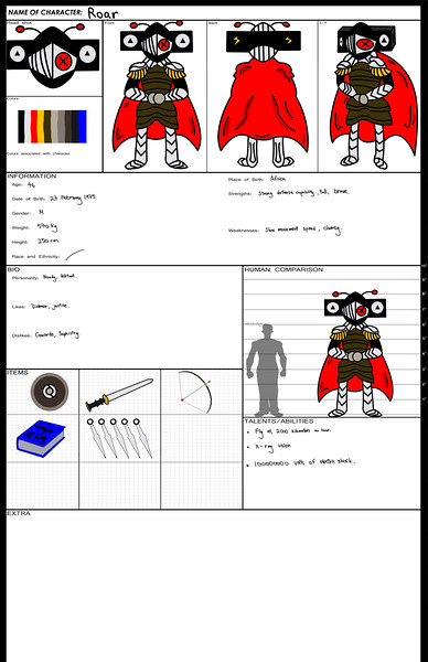 Character Design Reference Sheet