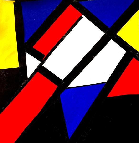 Mondrian Homage Collage - Composition