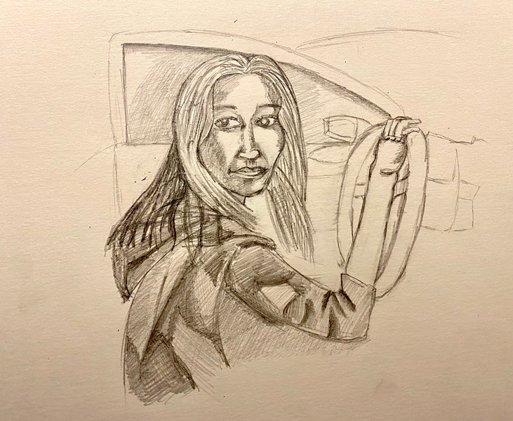 Self Portrait, Driving