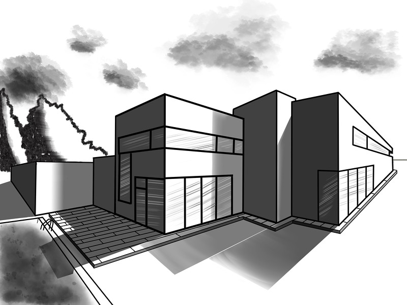 2point perspective drawing
