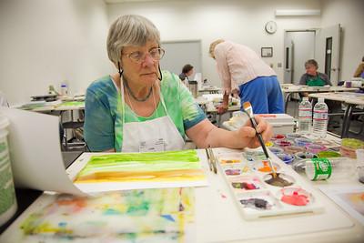 Kinne's Watercolor class