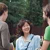 Pianist Rose Chen from California visits with Caitlin Warbelow and Kyle Sanna from New York.
