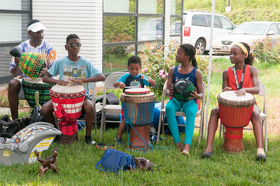 African Drum Circle @ Hickory Grove Library 4-29-17 by Jon Strayhorn