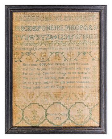 191125 Antique Cross Stitch Samplers 018-2 border