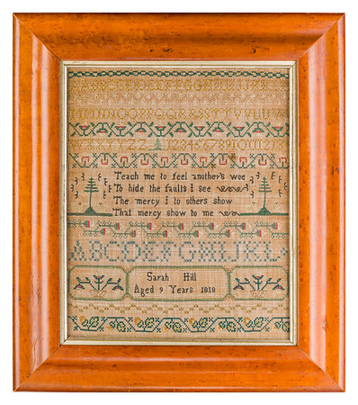 191125 Antique Cross Stitch Samplers 019-2 border