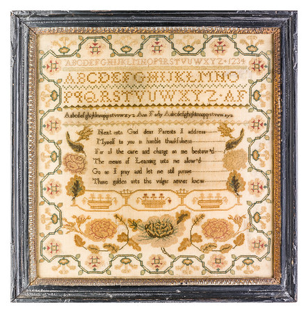 191125 Antique Cross Stitch Samplers 029 border
