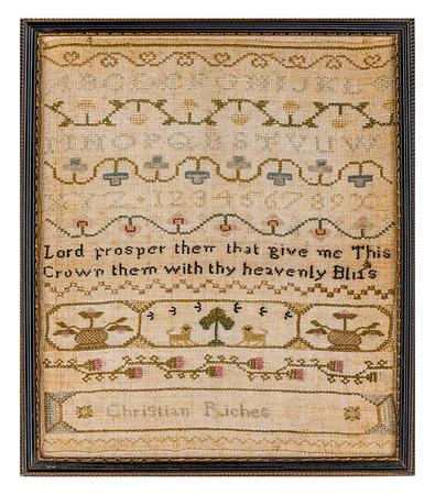 191125 Antique Cross Stitch Samplers 011-2 border