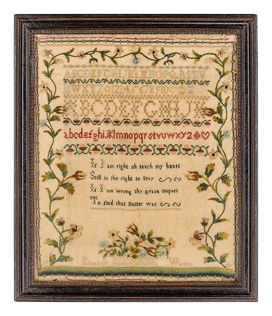 191125 Antique Cross Stitch Samplers 012-2 border