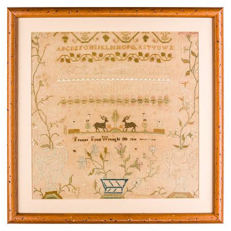 191125 Antique Cross Stitch Samplers 023 border
