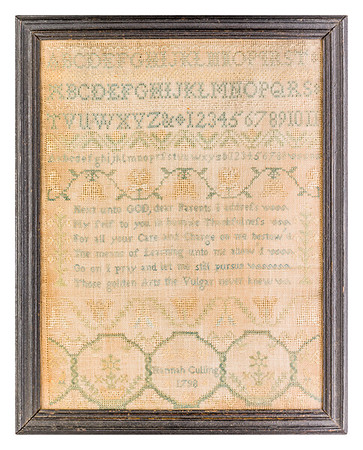 191125 Antique Cross Stitch Samplers 018 border