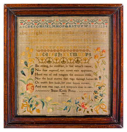 191125 Antique Cross Stitch Samplers 040-2 border