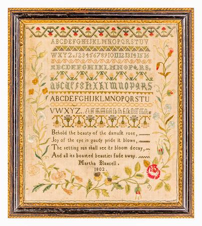 191125 Antique Cross Stitch Samplers 005-2 border