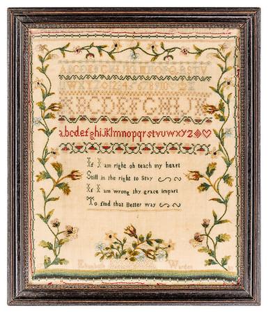 191125 Antique Cross Stitch Samplers 012 border