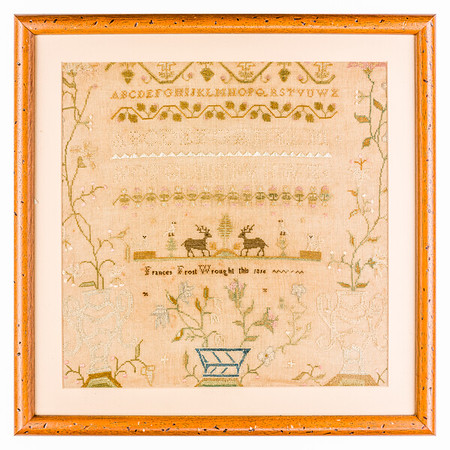191125 Antique Cross Stitch Samplers 023-2 border