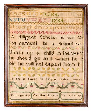 191125 Antique Cross Stitch Samplers 013 border