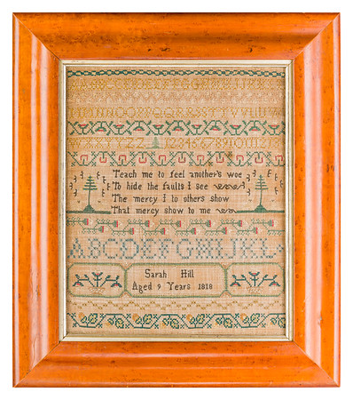 191125 Antique Cross Stitch Samplers 019 border