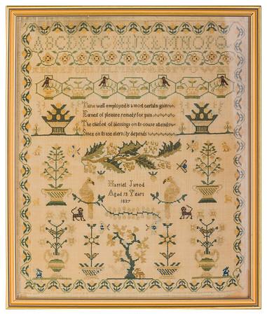 191125 Antique Cross Stitch Samplers 014 border