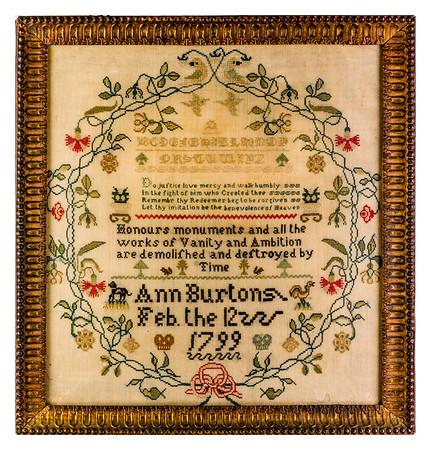 191125 Antique Cross Stitch Samplers 031-2 border