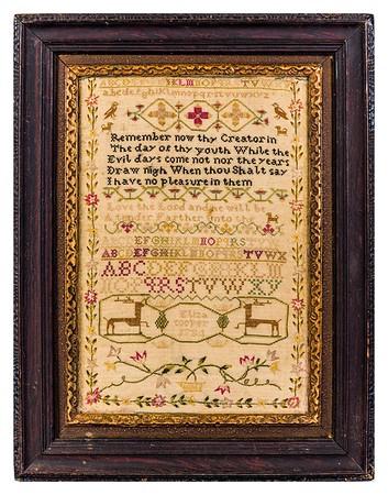 200218  Antique Cross Stitch Samplers 002